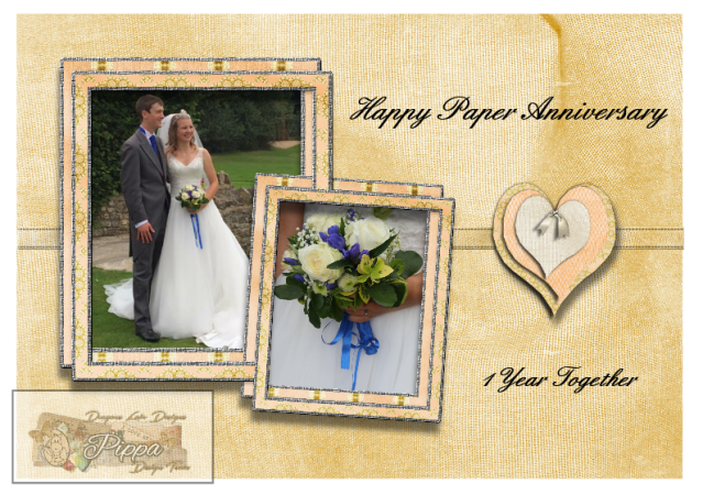 Richard and Rachel 1st Anniversary Card Topper (watermarked)
